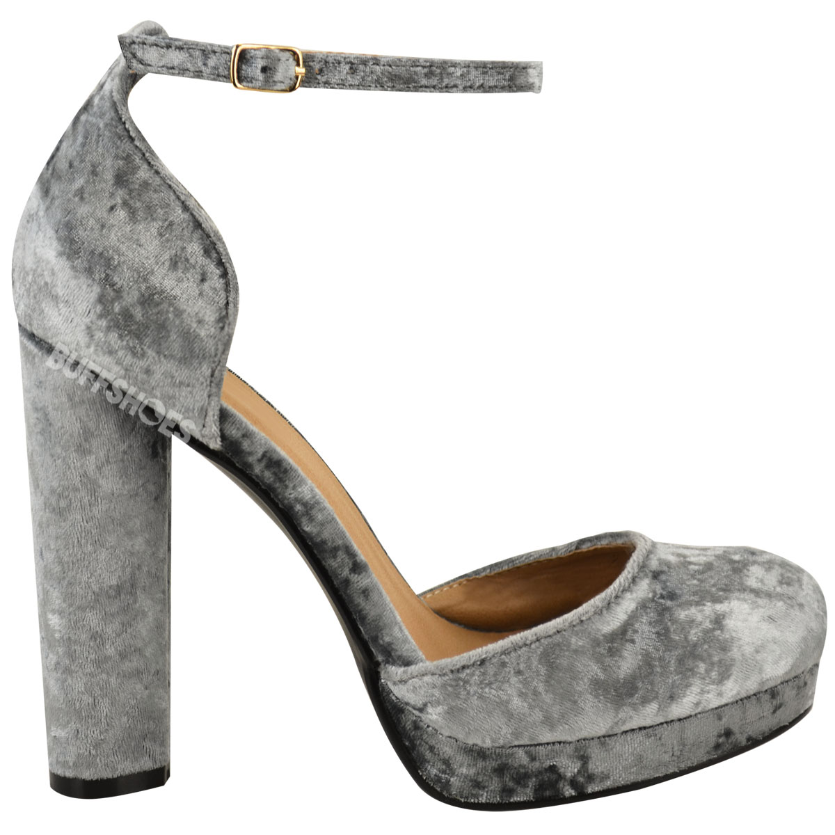 womens platforms block high heel ankle strappy
