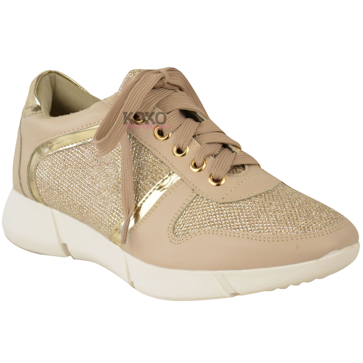New Womens Ladies Flat Lace Up Trainers Sneakers Sports ...