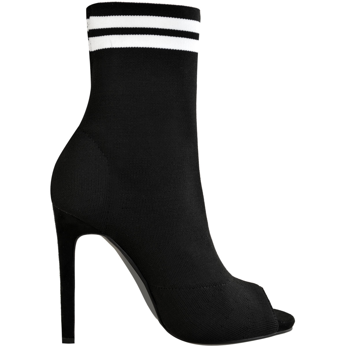 Womens-Ladies-Stilleto-High-Heel-Sock-Boots-Knit-Stretch-Sports-Luxe-Size