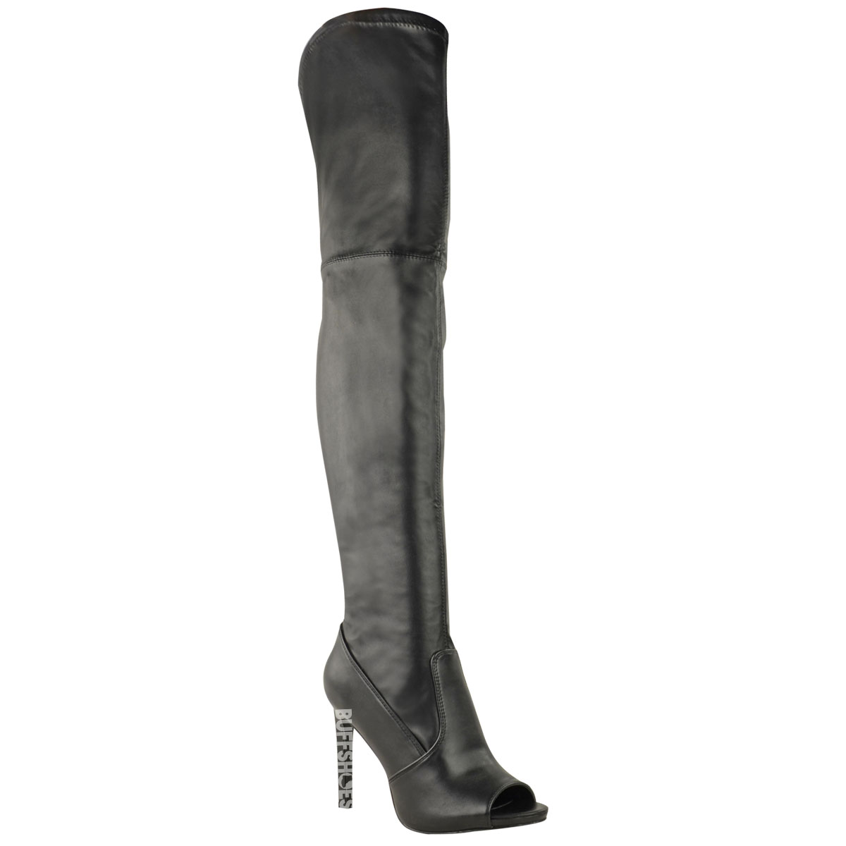 WOMENS LADIES THIGH HIGH OVER THE KNEE BOOTS PLATFORM HIGH HEELS SEXY NEW SIZE