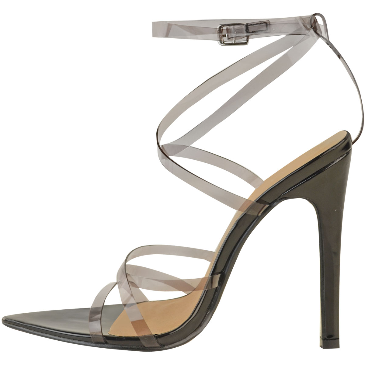 dfae6eb52df Womens Sexy Clear High Heel Sandals Perspex Strappy Party Barely ...