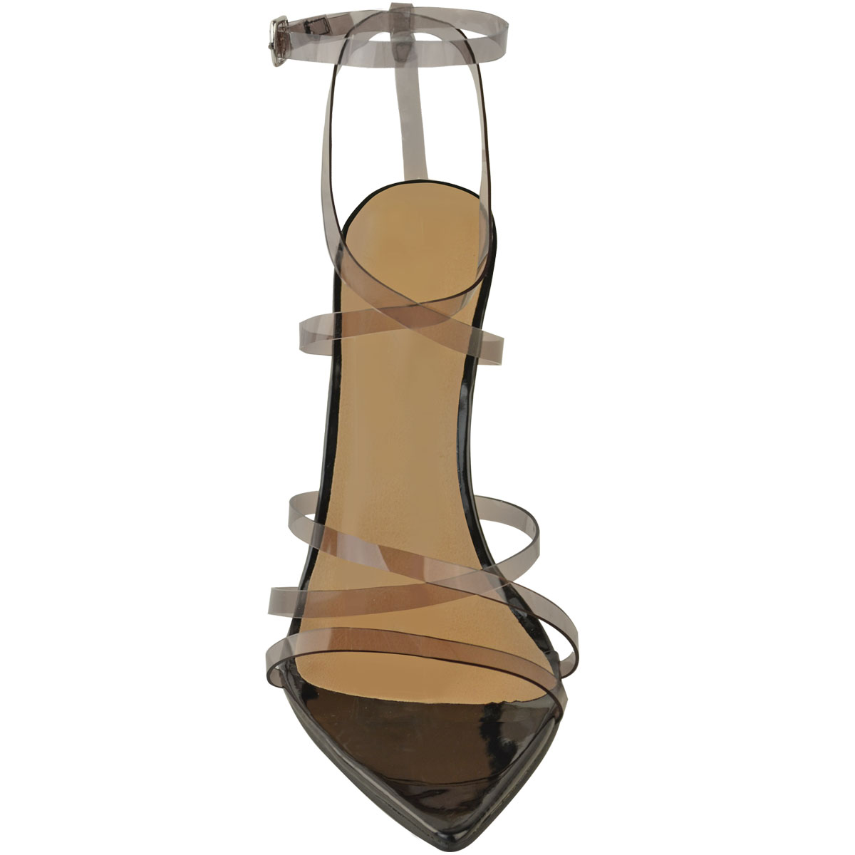 Womens-Sexy-Clear-High-Heel-Sandals-Perspex-Strappy-Party-Barely-There-Pointed thumbnail 6