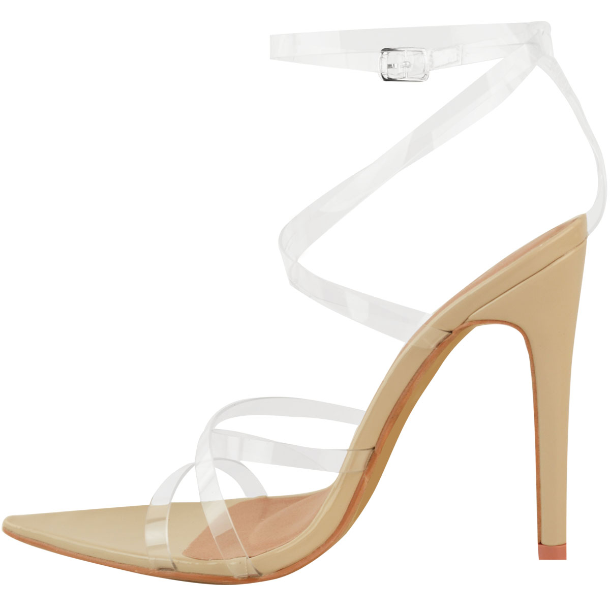 Womens-Sexy-Clear-High-Heel-Sandals-Perspex-Strappy-Party-Barely-There-Pointed thumbnail 10