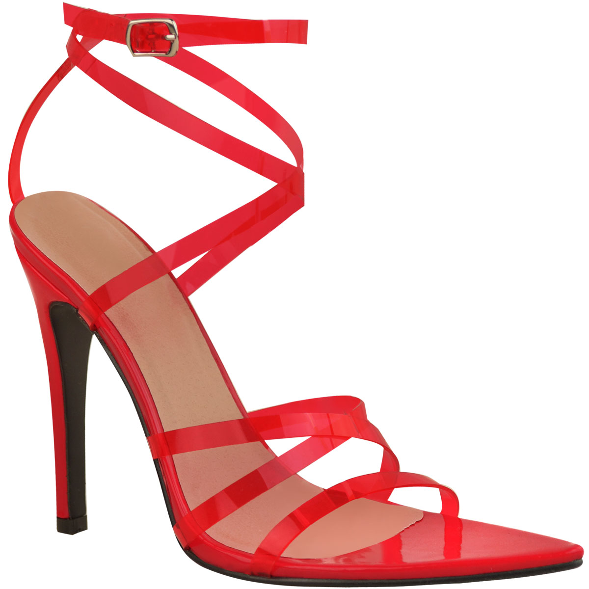 Womens-Sexy-Clear-High-Heel-Sandals-Perspex-Strappy-Party-Barely-There-Pointed thumbnail 13