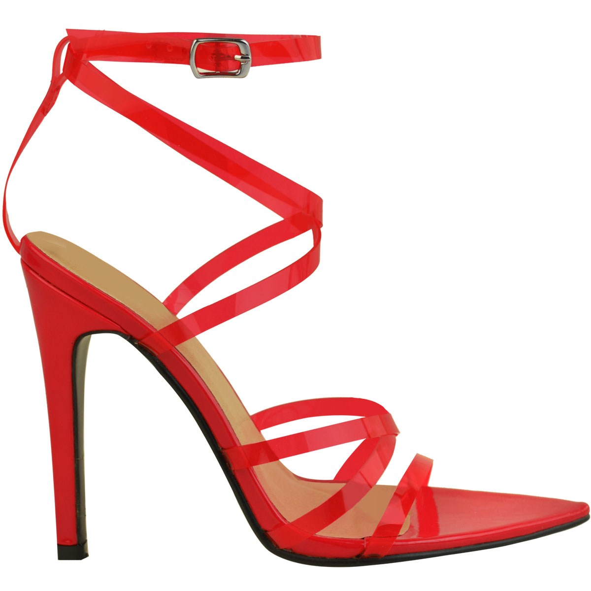 Womens-Sexy-Clear-High-Heel-Sandals-Perspex-Strappy-Party-Barely-There-Pointed thumbnail 14