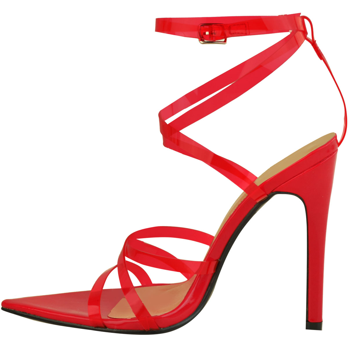 Womens-Sexy-Clear-High-Heel-Sandals-Perspex-Strappy-Party-Barely-There-Pointed thumbnail 15