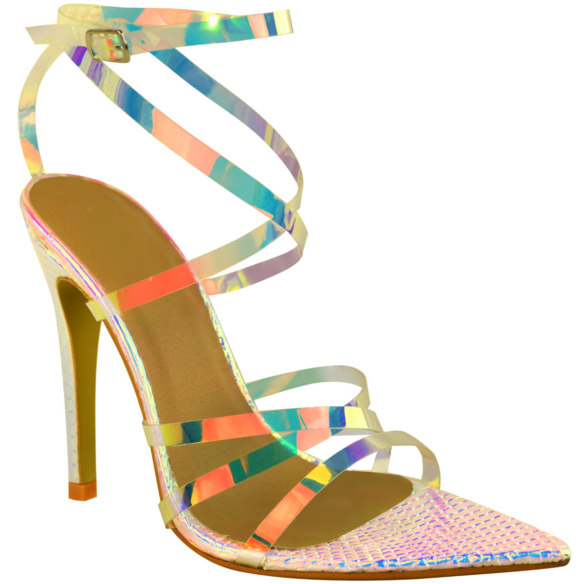 Womens-Sexy-Clear-High-Heel-Sandals-Perspex-Strappy-Party-Barely-There-Pointed thumbnail 18