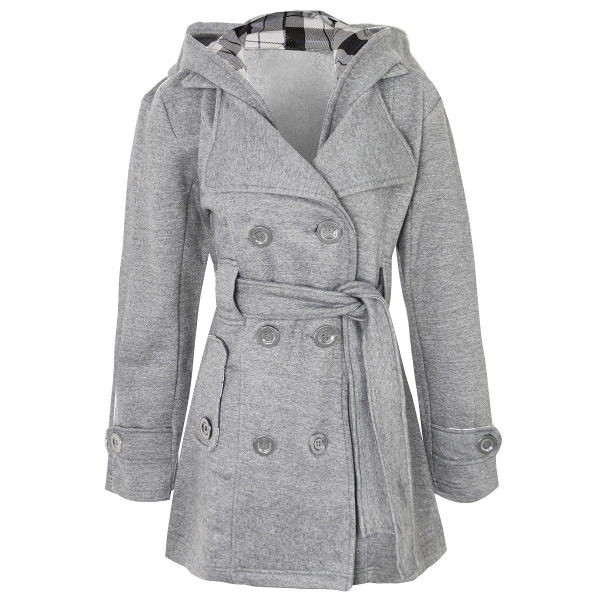 Femme-Femmes-Veste-a-manches-longues-Manteau-Blouson-Cuir-Synthetique-Clous-court-trench-taille