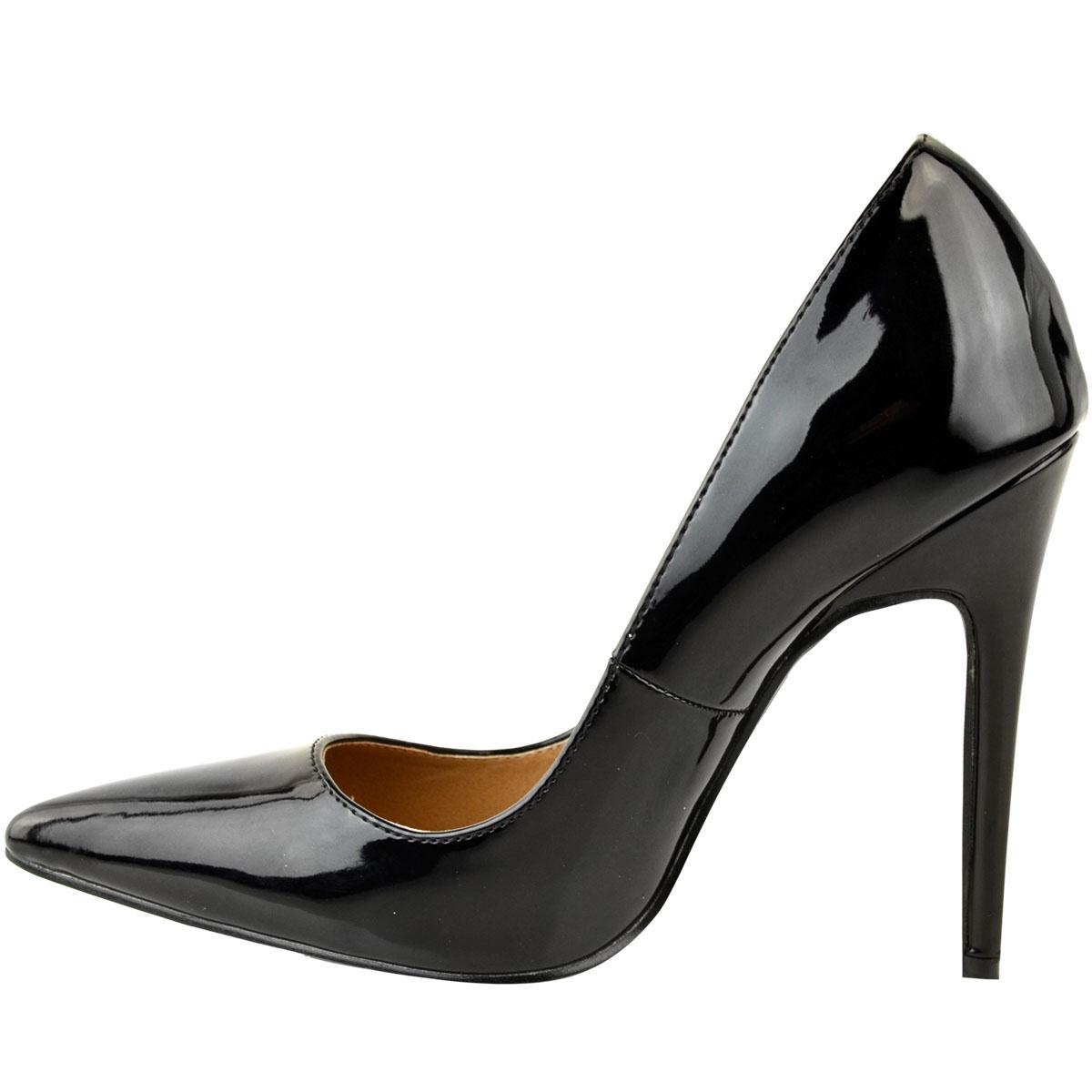 Femme Femmes Stilettos Talons Hauts Sandales Cour Bout Pointu Fête Chaussures Taille UK