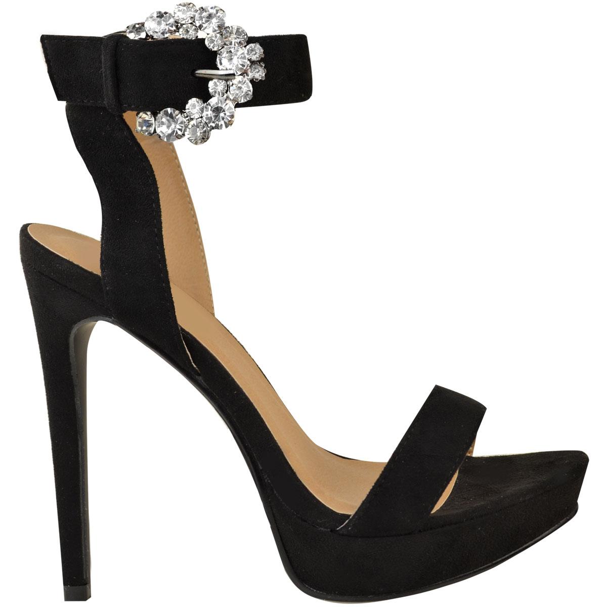 Womens-Ladies-Stilettos-High-Heels-Strappy-Platforms-Sandals-Diamante-Shoes-Size thumbnail 31