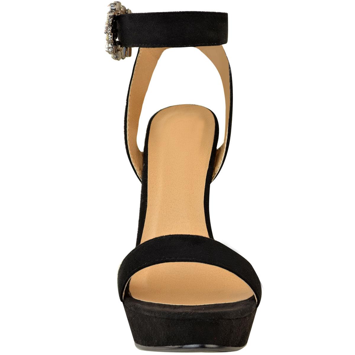Womens-Ladies-Stilettos-High-Heels-Strappy-Platforms-Sandals-Diamante-Shoes-Size thumbnail 33