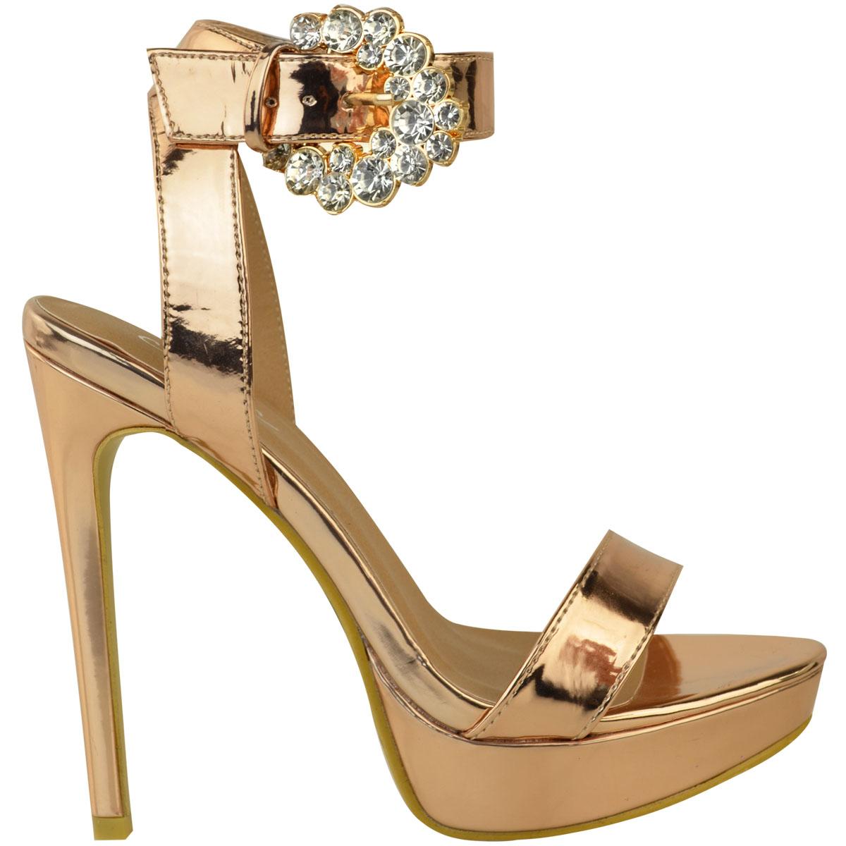 Womens-Ladies-Stilettos-High-Heels-Strappy-Platforms-Sandals-Diamante-Shoes-Size thumbnail 35