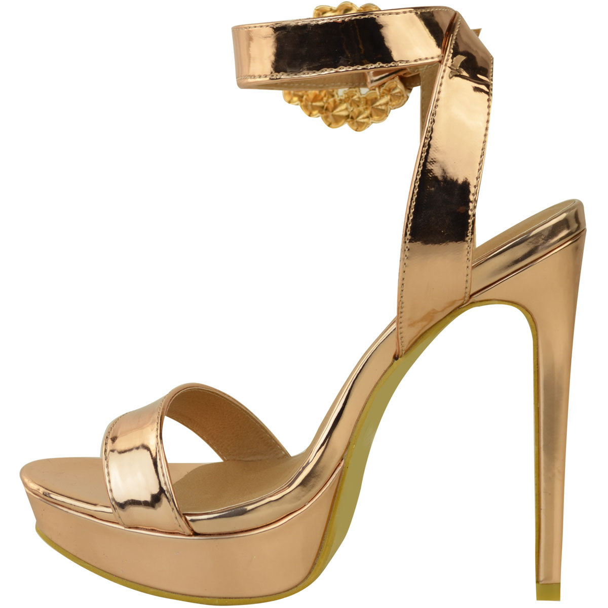 Womens-Ladies-Stilettos-High-Heels-Strappy-Platforms-Sandals-Diamante-Shoes-Size thumbnail 36