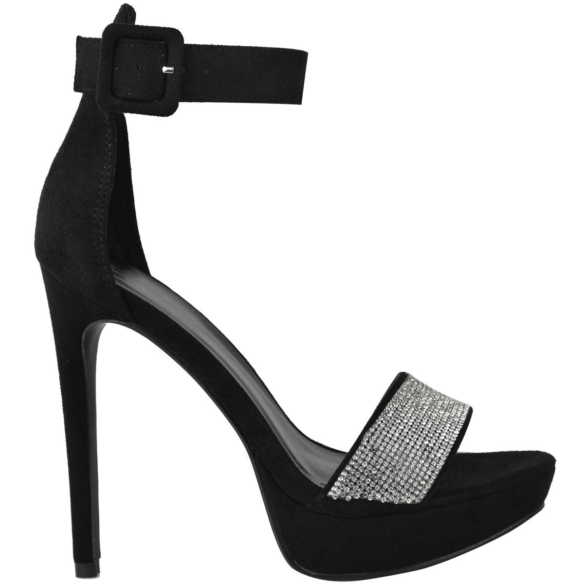 Womens-Ladies-Stilettos-High-Heels-Strappy-Platforms-Sandals-Diamante-Shoes-Size thumbnail 19