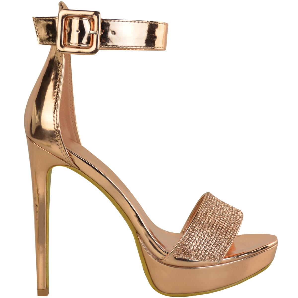 Womens-Ladies-Stilettos-High-Heels-Strappy-Platforms-Sandals-Diamante-Shoes-Size thumbnail 23