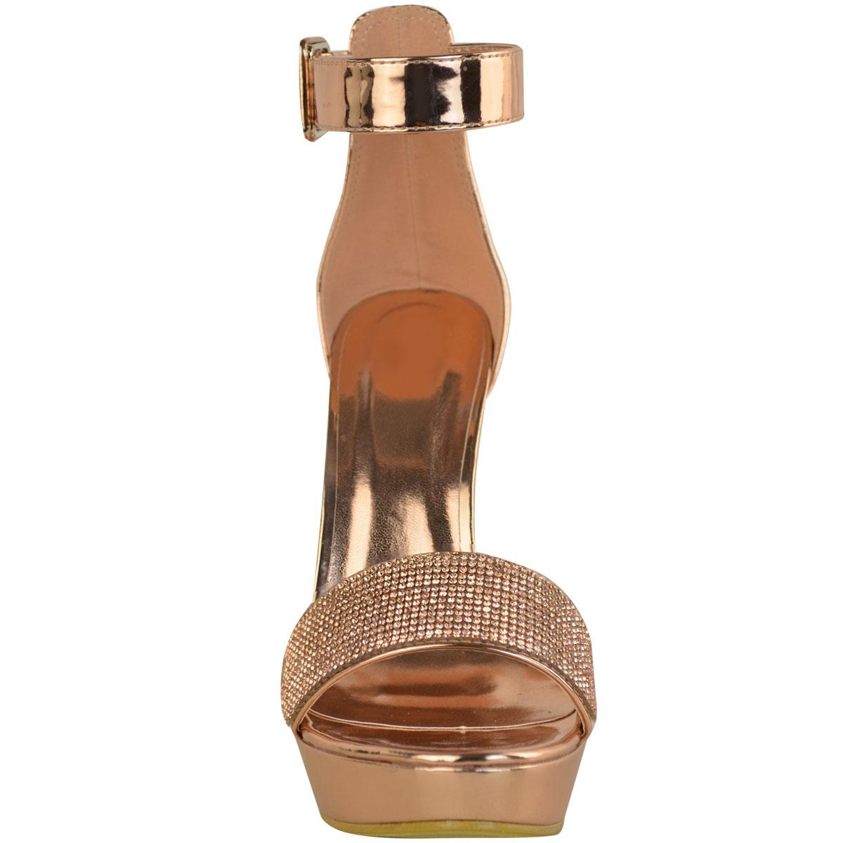 Womens-Ladies-Stilettos-High-Heels-Strappy-Platforms-Sandals-Diamante-Shoes-Size thumbnail 25