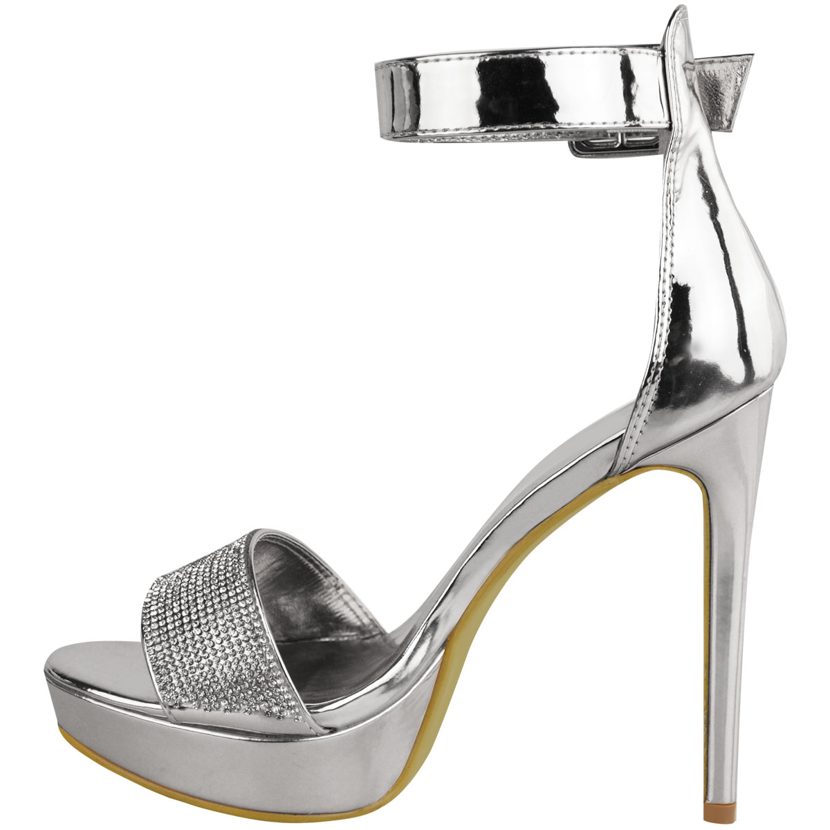 22979388d0d Womens Ladies Sparkly Diamante Platforms Stilettos High Heels Party ...