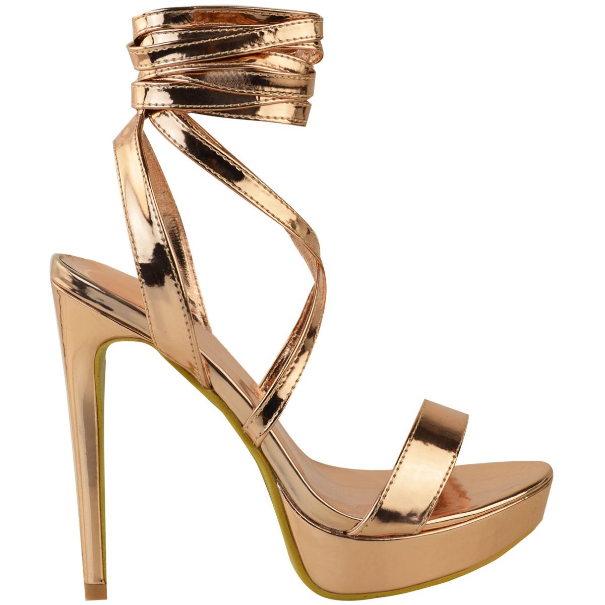 Womens-Ladies-Stilettos-High-Heels-Strappy-Platforms-Sandals-Diamante-Shoes-Size thumbnail 43