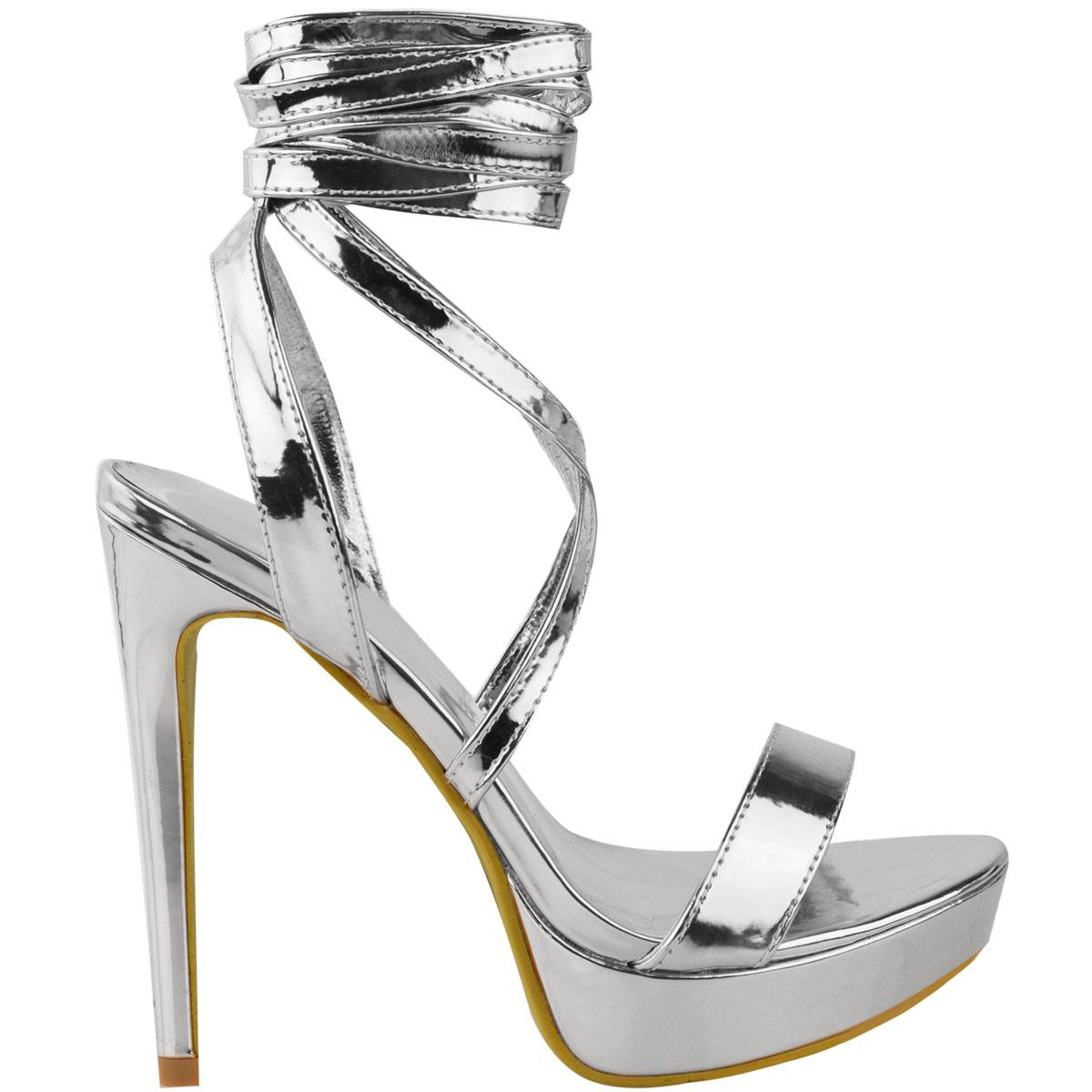Womens-Ladies-Stilettos-High-Heels-Strappy-Platforms-Sandals-Diamante-Shoes-Size thumbnail 47