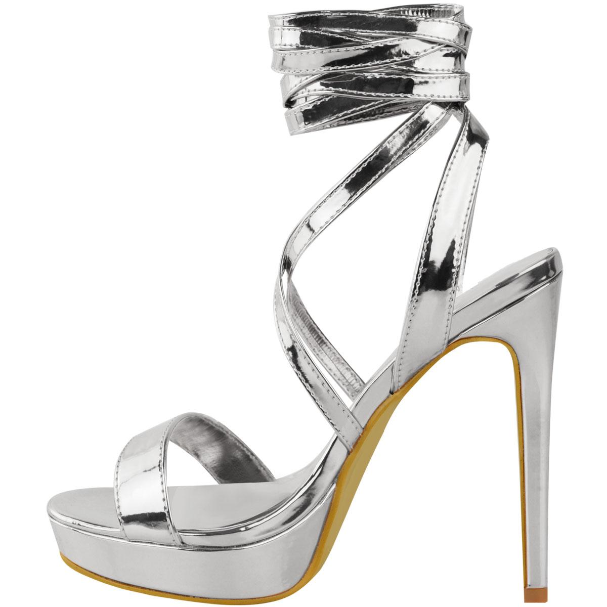Womens-Ladies-Stilettos-High-Heels-Strappy-Platforms-Sandals-Diamante-Shoes-Size thumbnail 48