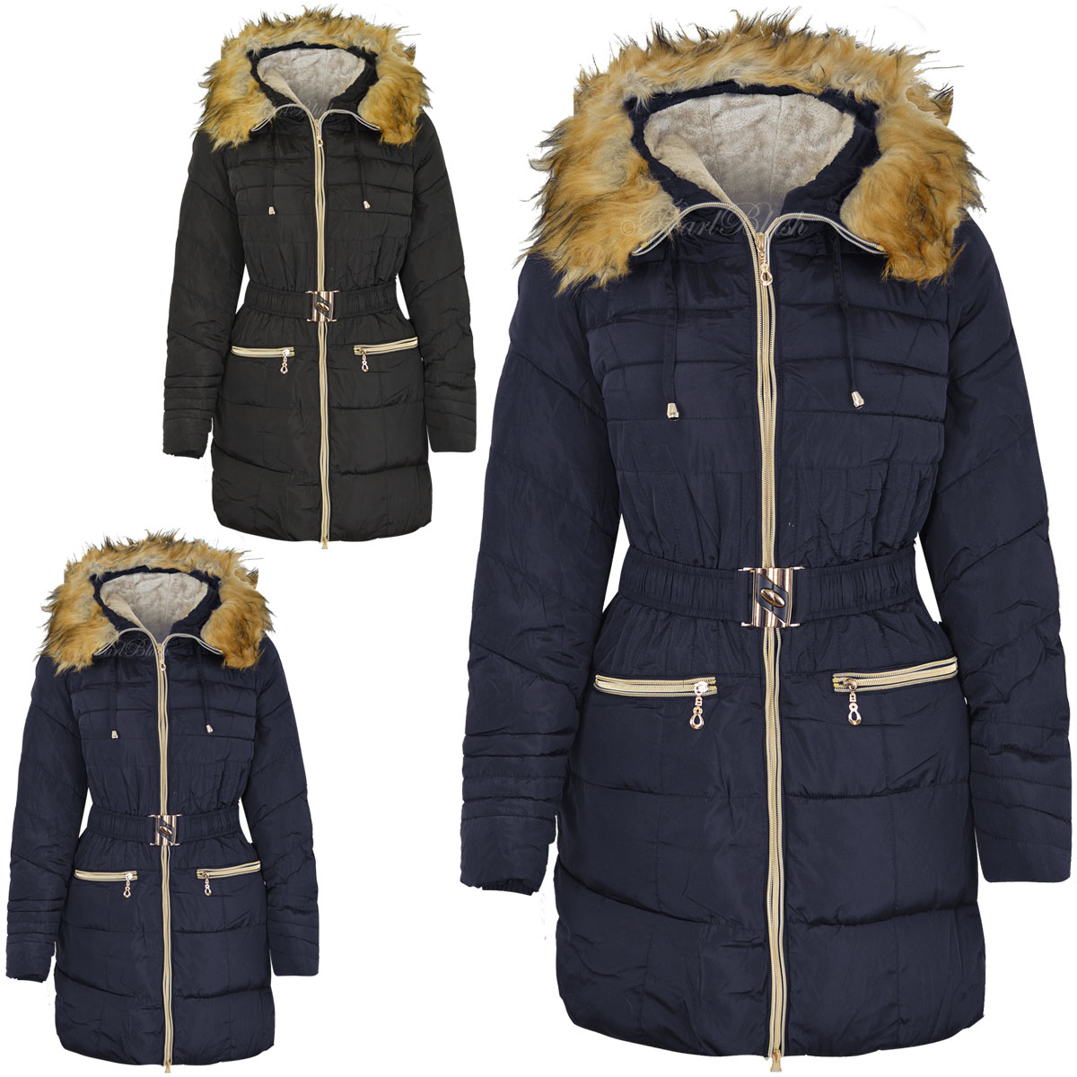 Womens hooded winter coat