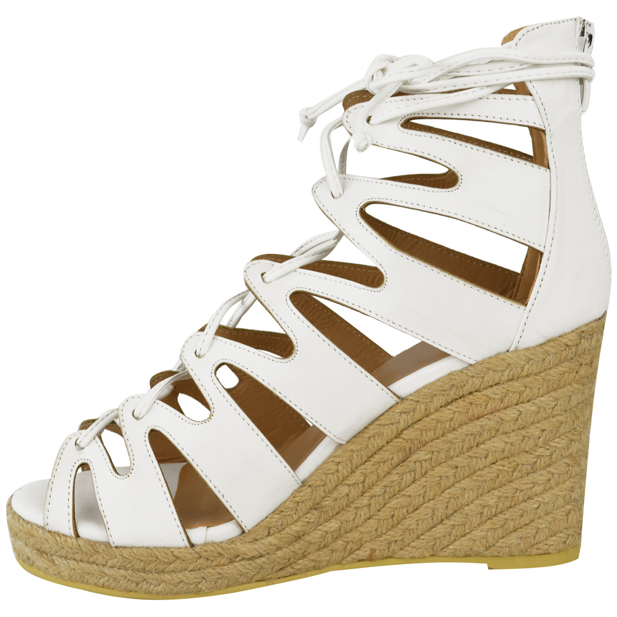 Creative  Kors Celena Wedge Womens Size 7 White Gladiator Sandals Shoes  No Box