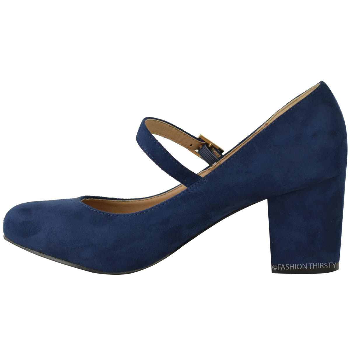 Ladies Blue Mary Jane Shoes