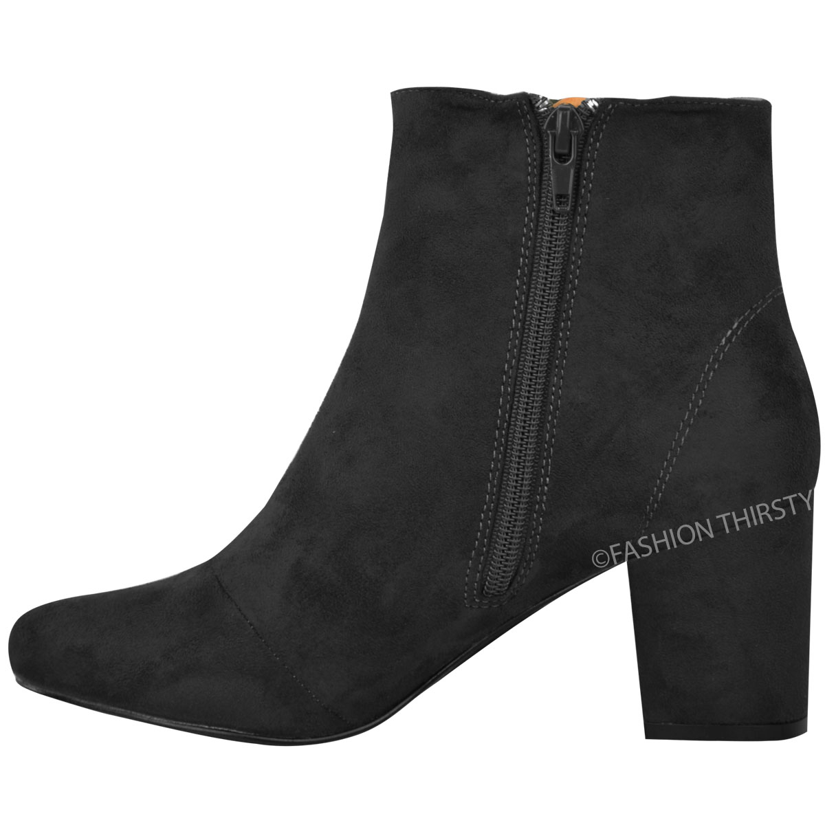 thumbnail 5 - WOMENS-LADIES-LOW-BLOCK-HEEL-CHELSEA-ANKLE-BOOTS-CUT-OUT-LACE-UP-SHOES-NEW-SIZE