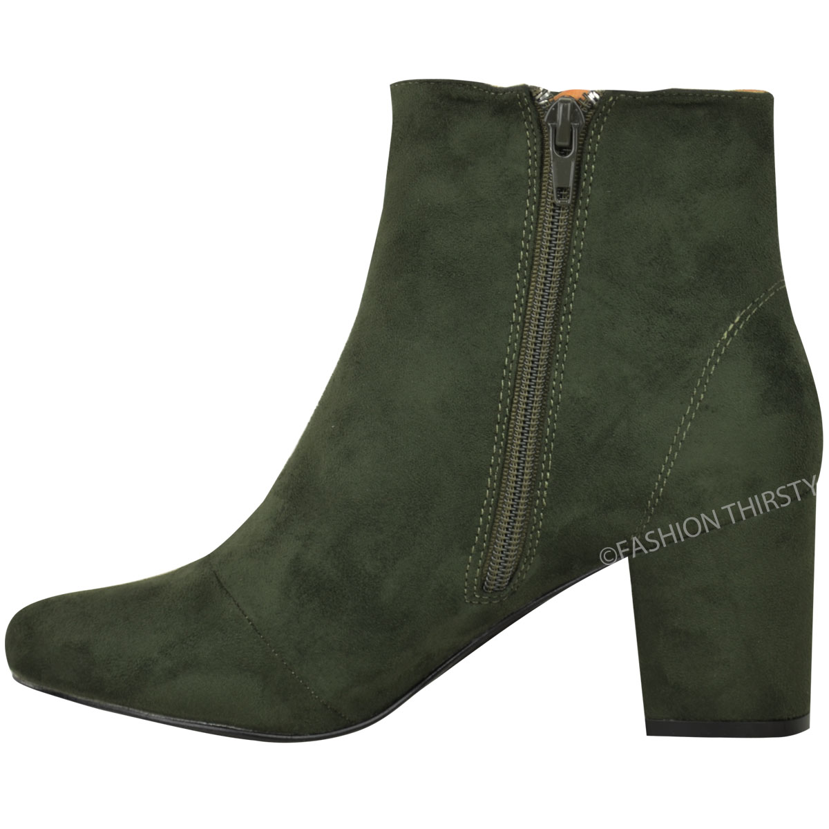 thumbnail 15 - WOMENS-LADIES-LOW-BLOCK-HEEL-CHELSEA-ANKLE-BOOTS-CUT-OUT-LACE-UP-SHOES-NEW-SIZE