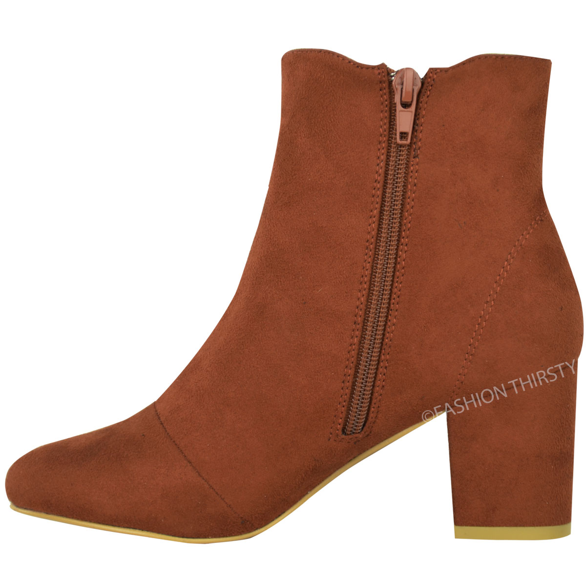 thumbnail 10 - WOMENS-LADIES-LOW-BLOCK-HEEL-CHELSEA-ANKLE-BOOTS-CUT-OUT-LACE-UP-SHOES-NEW-SIZE