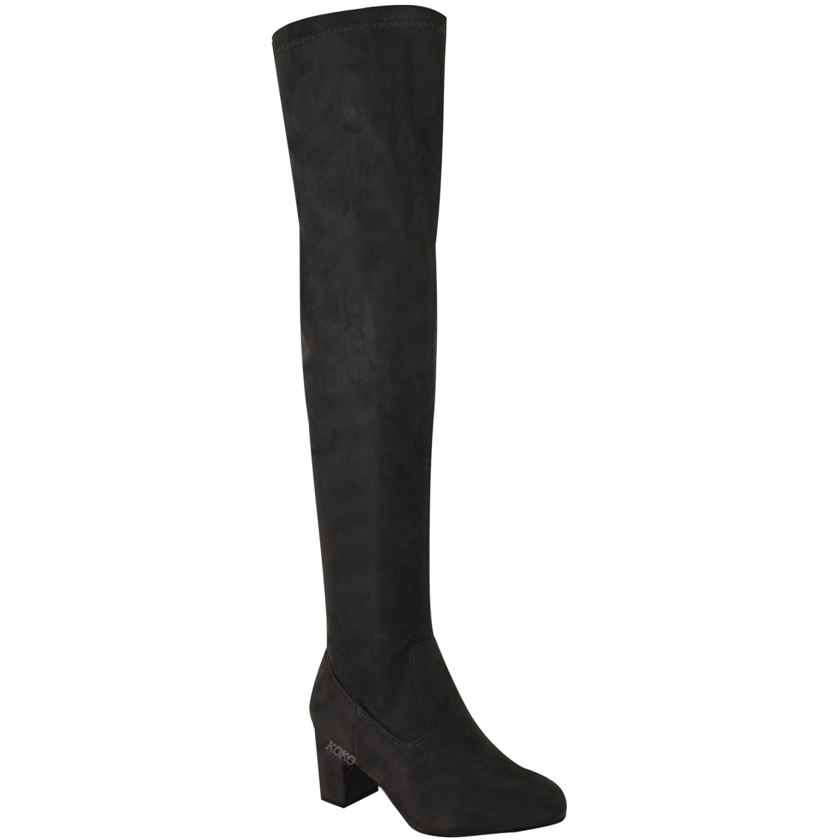 womens thigh high boots the knee stretchy