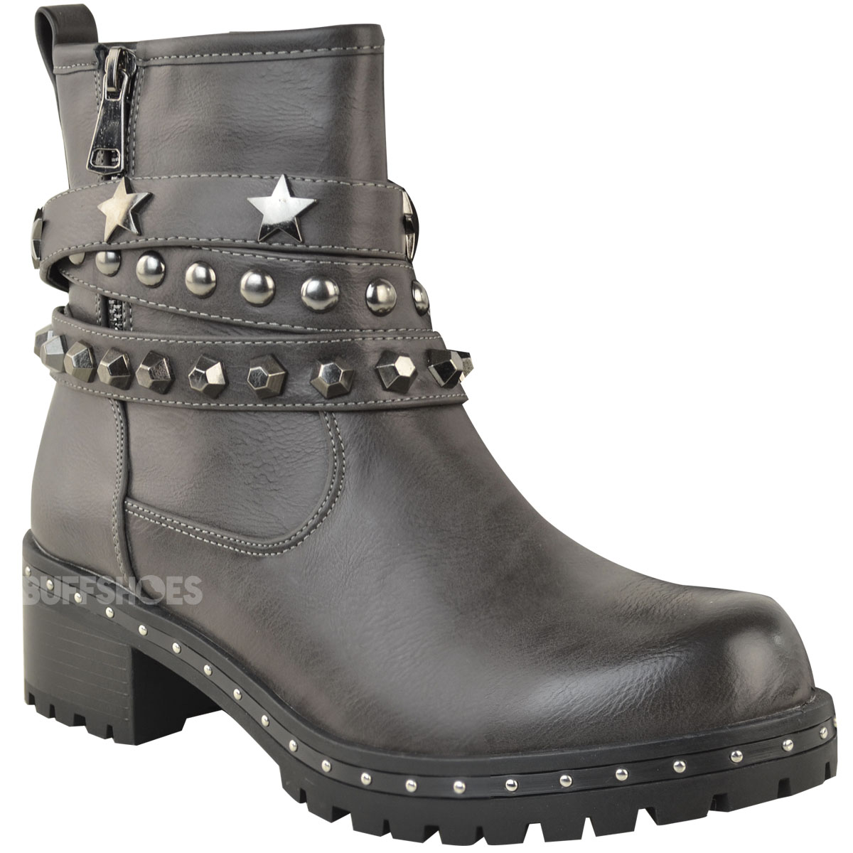 chunky stud clothing black flatforms quiz footwear
