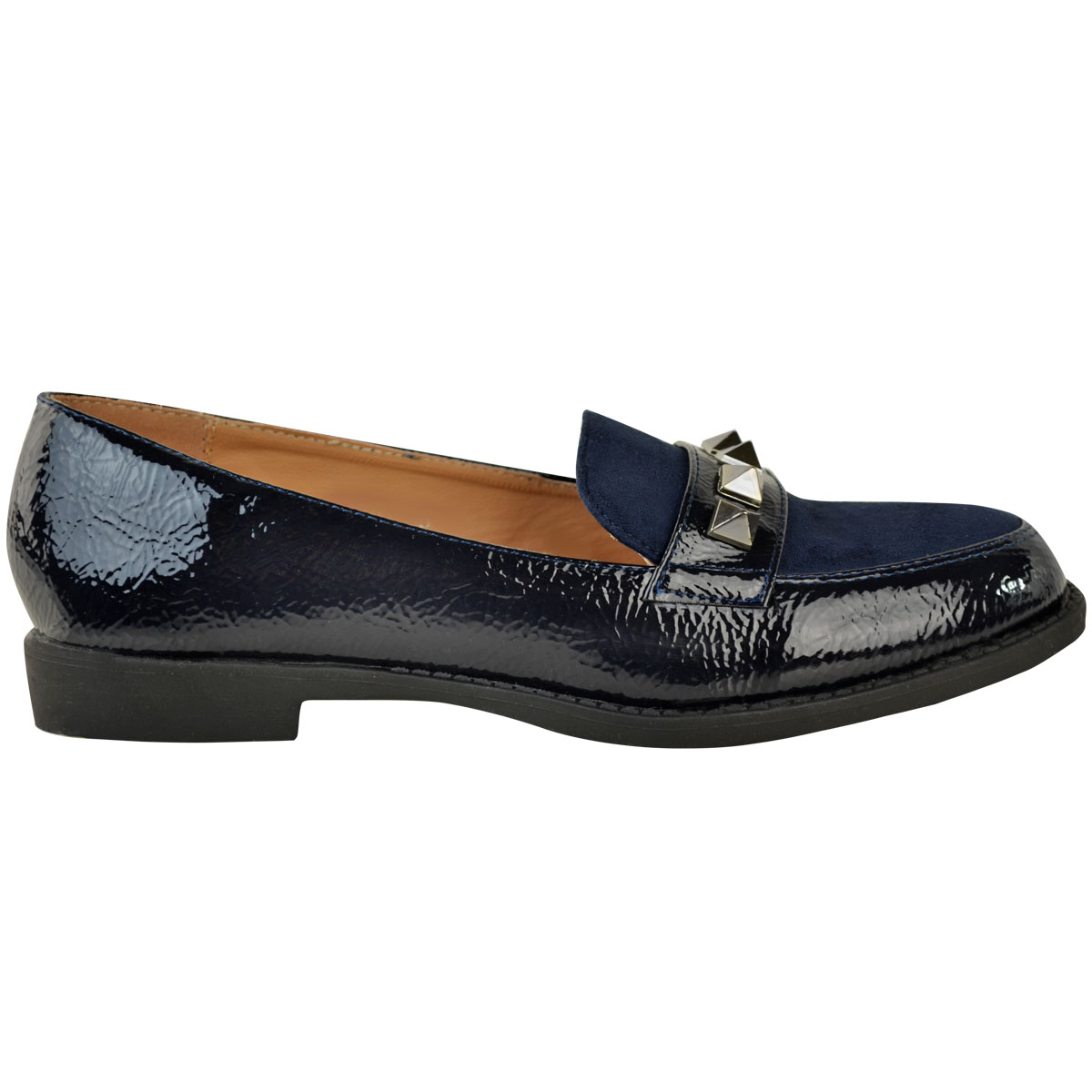 Womens-Ladies-Loafers-Brogues-Pumps-Casual-School-Office-Comfy-Work-Flats-Size thumbnail 11