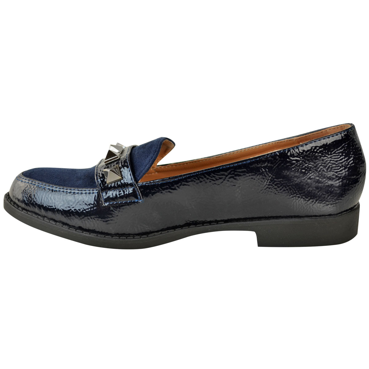 Womens-Ladies-Loafers-Brogues-Pumps-Casual-School-Office-Comfy-Work-Flats-Size thumbnail 12