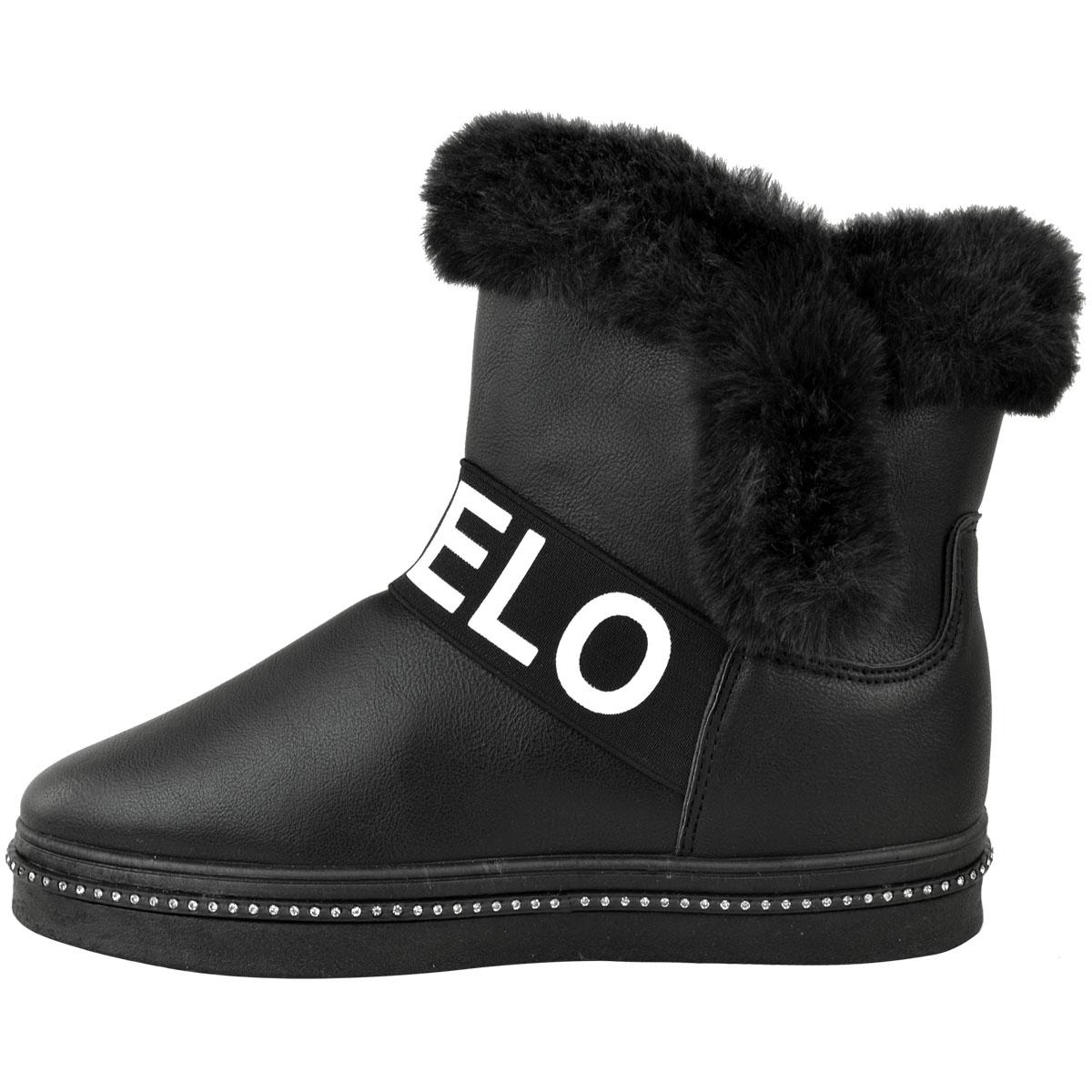 Womens Ladies Flat Love Snugg Boots Snow Winter Faux Fur Fleece Lined Warm Size