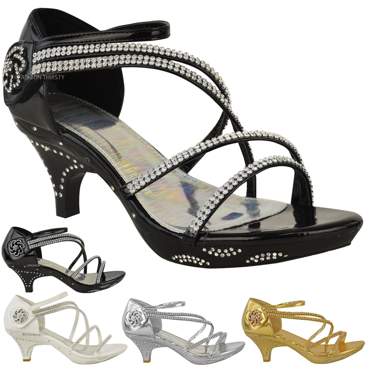 low heeled wedding shoes womens low heel diamante bridal wedding sandals 5619