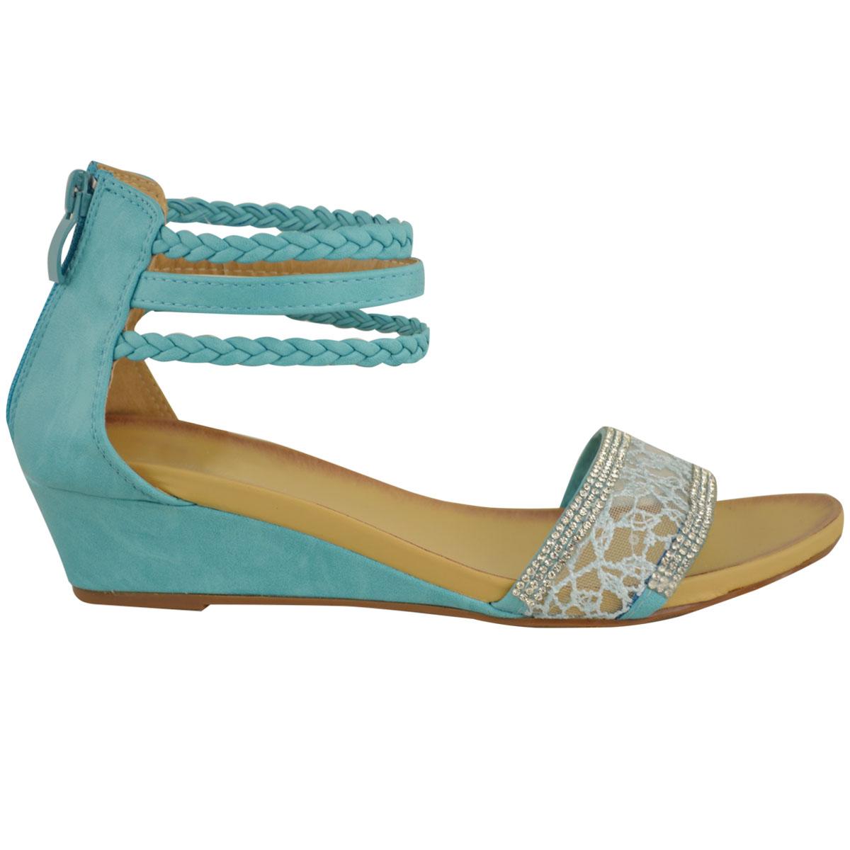Ladies Low Wedge Heel Shoes