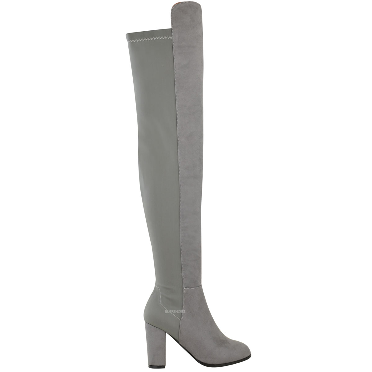 New Womens Ladies Over The Knee Boots Thigh High Block ...